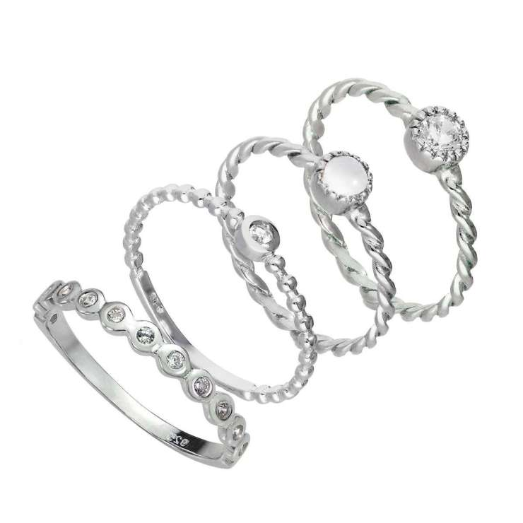 STACKING-16_Sterling_Silver_Clear_Twisted_Beaded_CZ_Stacking_Rings_Set